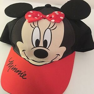 86788b36c Disney Minnie Mouse Toddler Girls Bow & Ears Baseball Cap New | eBay