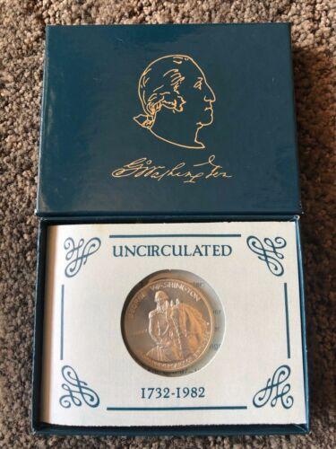 1982 US Mint Uncirc Silver 250th Comm Anniversary GEORGE WASHINGTON Half w//COA