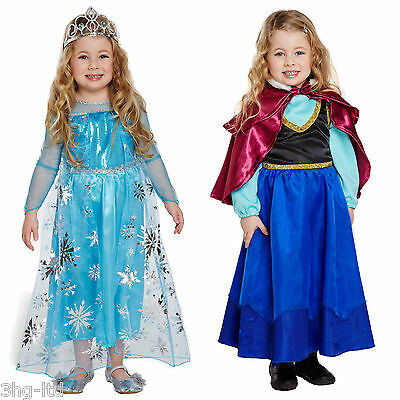 Fancy Dress Anna or Elsa Dressing Up Party Costume Toddler Age 3 World Book Day