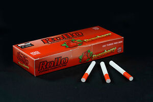 500-NEW-STRAWBERRY-FLAVORED-ROLLO-TUBE-Cigarrette-Tobbacco-Filter