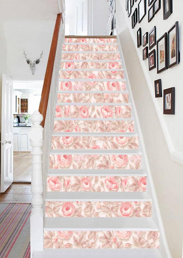 3d Fleur de Cerisier 534 Stair Risers Décoration Papier Peint Vinyle Autocollant Papier Peint De