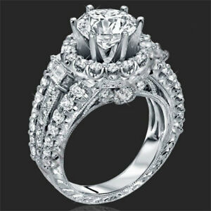 Women-039-s-1-8-CTW-Princess-Cut-925-Sterling-Silver-CZ-Wedding-Engagement-Ring