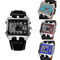 New Multiple Time Zone OHSEN Mens Sports Watches Waterproof LED Wristwatches F67