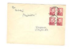 Polen Briefmarken Brief von 1951 Groszy Aufdruck Mi 626