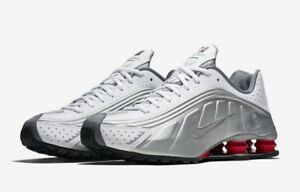 55e03fca1ac Image is loading 2108-Nike-Shox-R4-Metallic-Silver-Comet-Red-