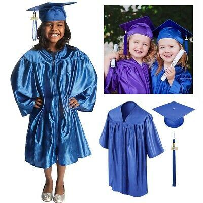 iEFiEL Kids Children Graduation Gown and Cap Tassel Sets for Nursery Academic Kindergarten and Preschool Red Set 4-5 Years
