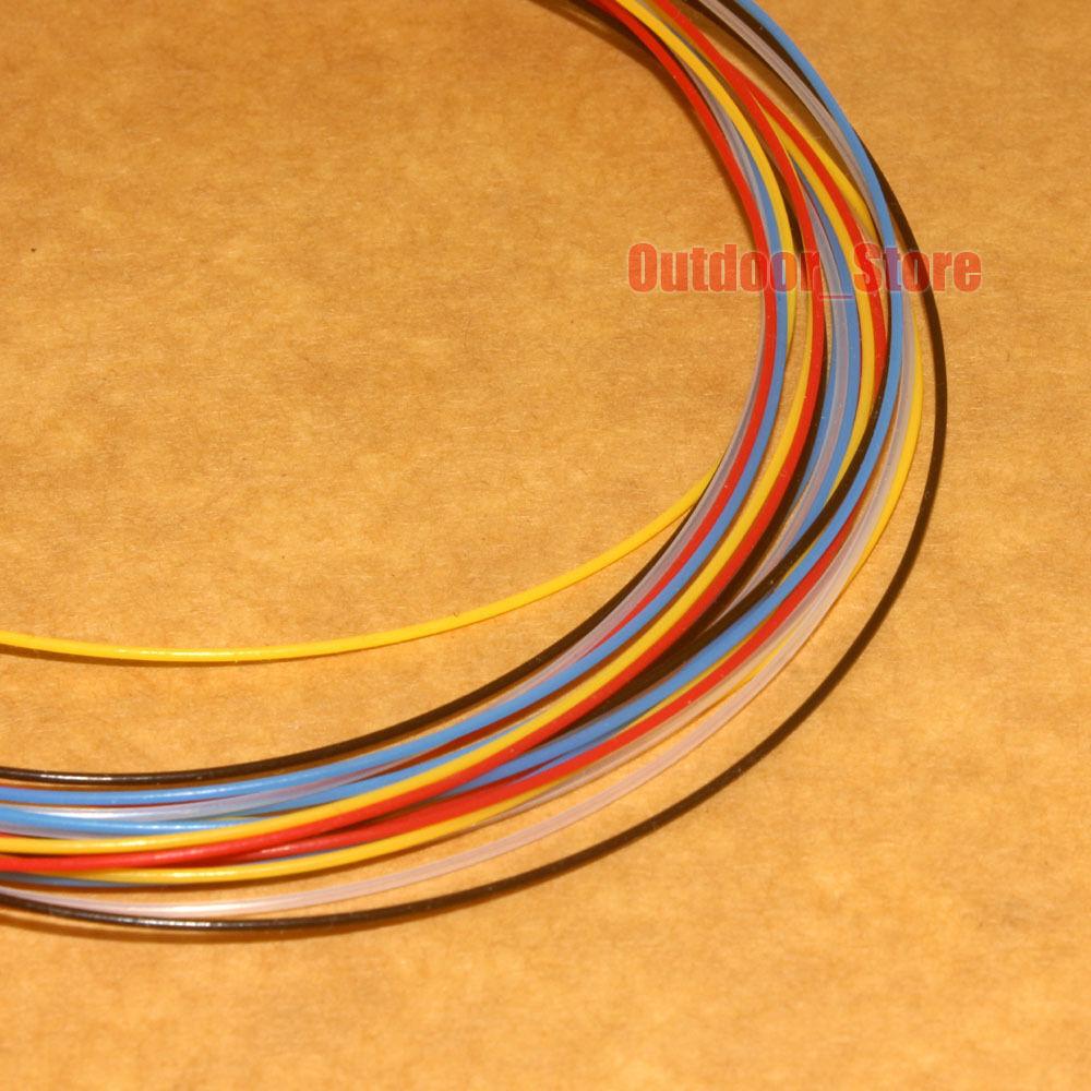 0.3mm~2.7mm PTFE F4 Tubing Teflon Hose Rigid Pipe Red/Blue/Black/Yellow lot
