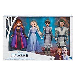 Disney-Frozen-2-Forest-Expedition-Set-11-Inch-Doll-4-Pack-Anna-Elsa-Ryder-Hon