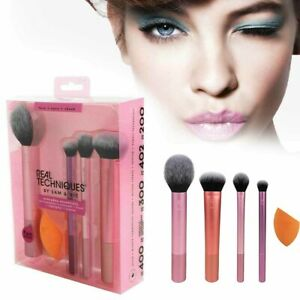 hot real techniques makeup brushes set foundation smooth