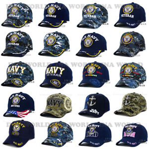 a0a8dde87bd Image is loading U-S-NAVY-hat-Military-NAVY-Logo-Embroidered-Official-