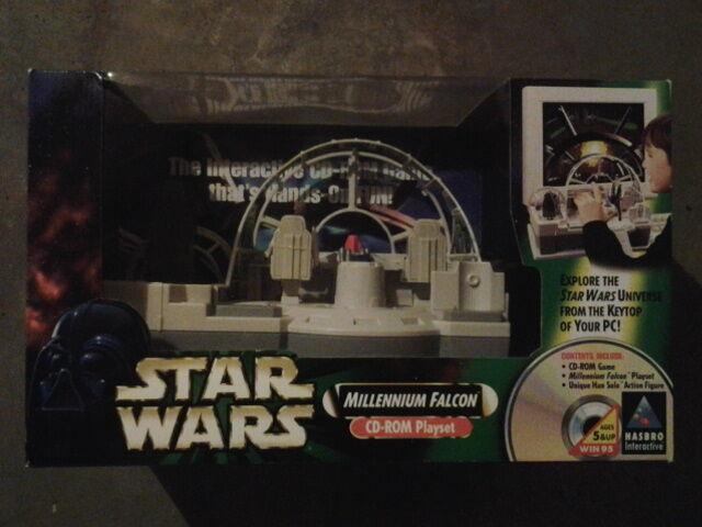 1998 Star Wars Hasbro Millennium Falcon - ROTJ Playset Cd Rom MIB