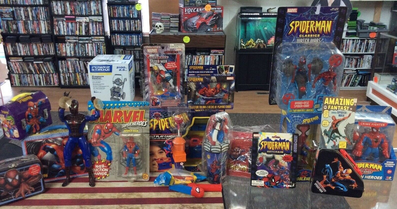 Marvel Spiderman Toy & Random Collectible Lot  Please See Pics