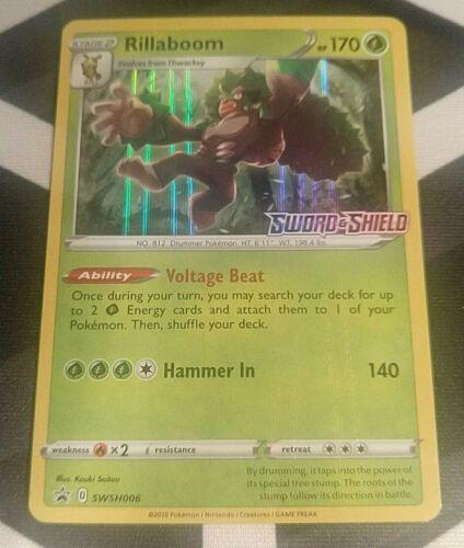 OtBG Rillaboom SWSH006 Prerelease Promo Pokemon Sword /& Shield Holo Near Mint NM