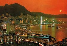 Victoria,Hong Kong,China,Panorama at Dusk,Used,HK Stamp,Kowloon,1984