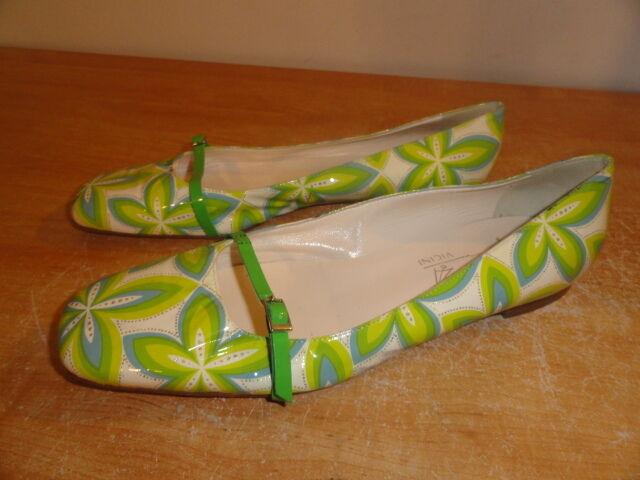 risparmia il 60% di sconto Donna  verde Patent Leather Leather Leather TAPEET VICINI Summer Spring Ballet Flats Sz-11 41  vendita economica