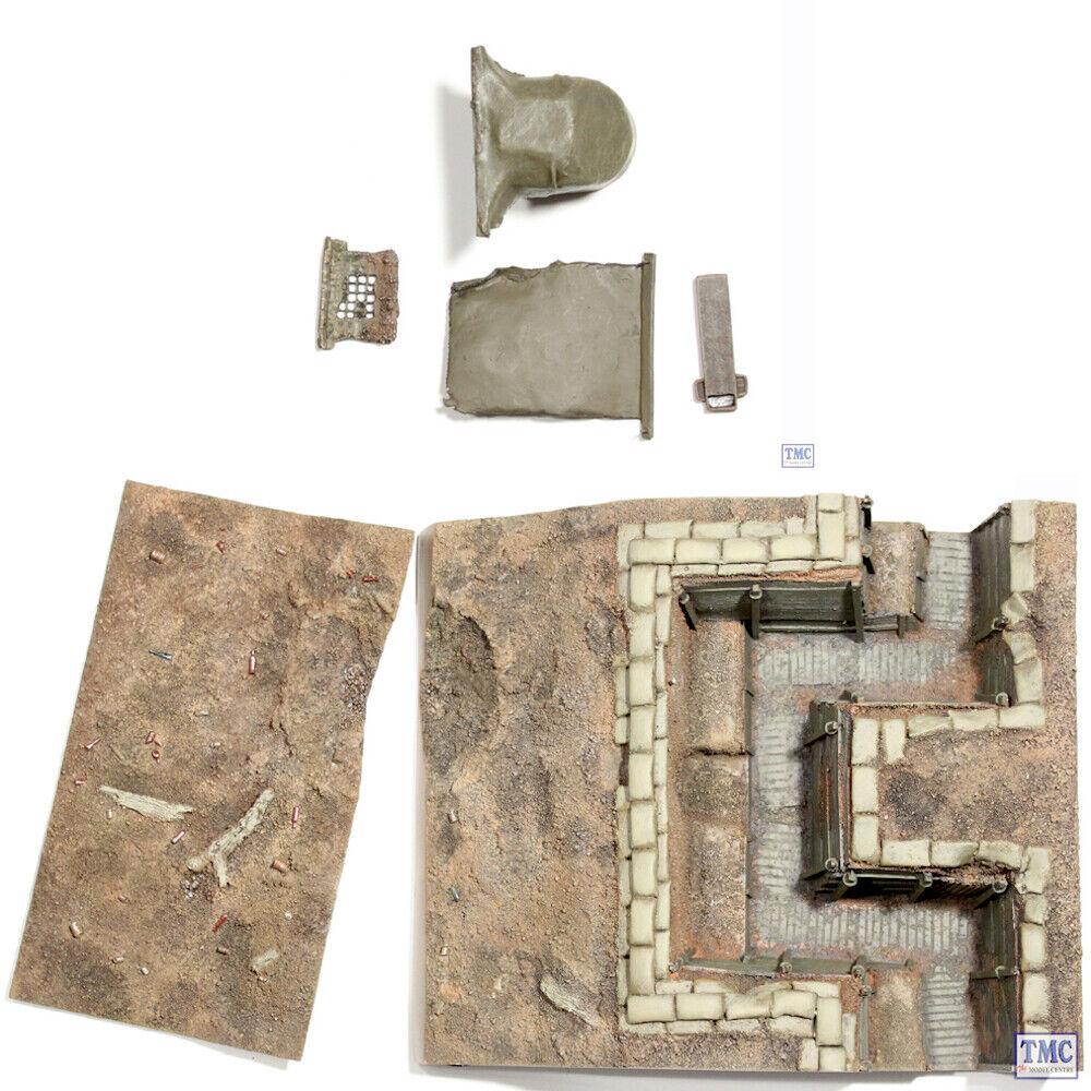 B51014 W. Britain WWI BRITISH TRINCEA sezione _ 1 FANTERIA TRINCEA SNIPER Pit