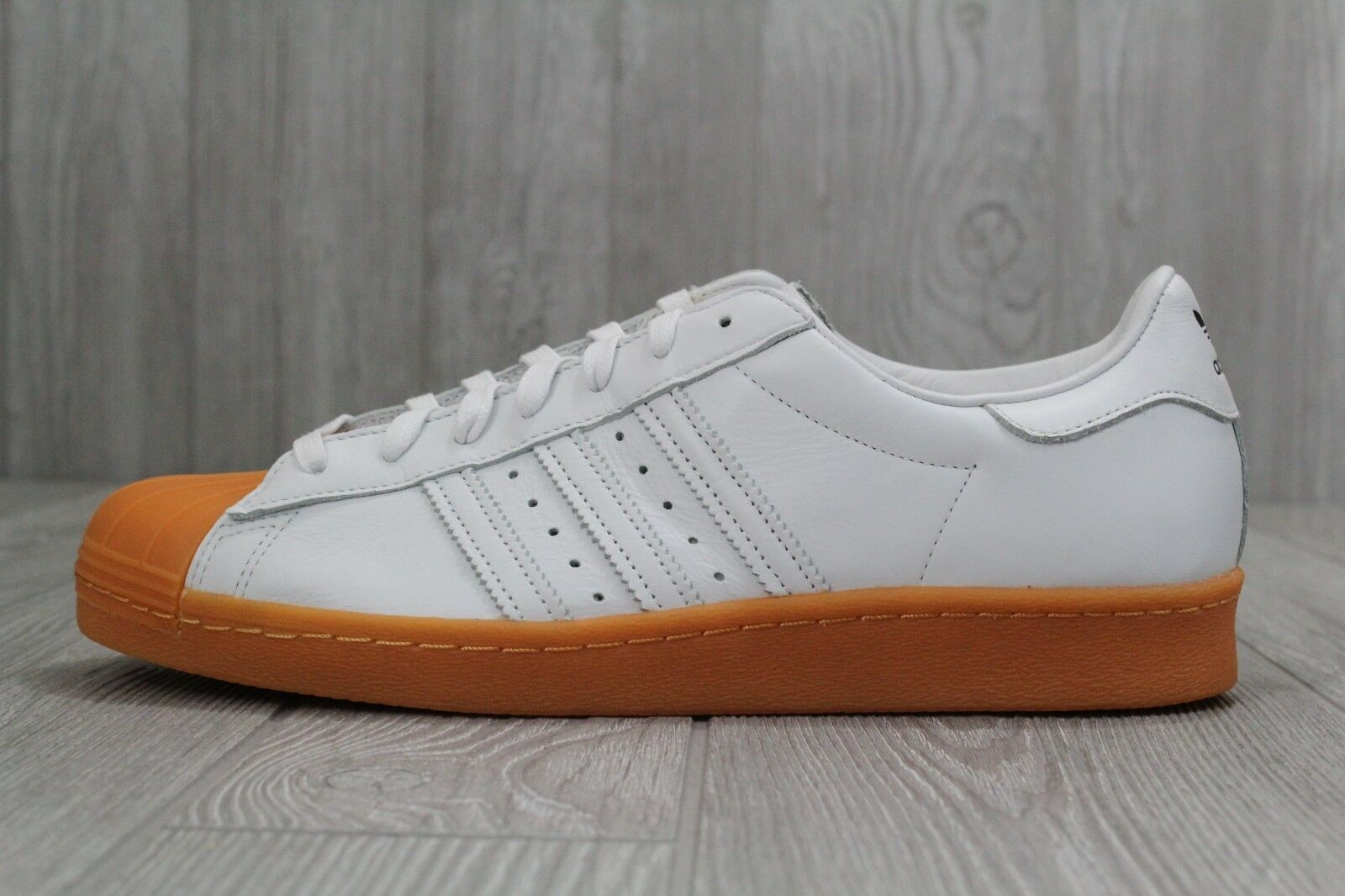 31 New Adidas Originals White Superstar 80S Dlx Mens White Originals Trainers Shoes S75830 9-11 ddc9f1