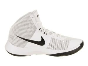 07e0f5ab35c6 Image is loading MENS-NIKE-AIR-PRECISION-BASKETBALL-TRAINER-WHITE-BLACK-