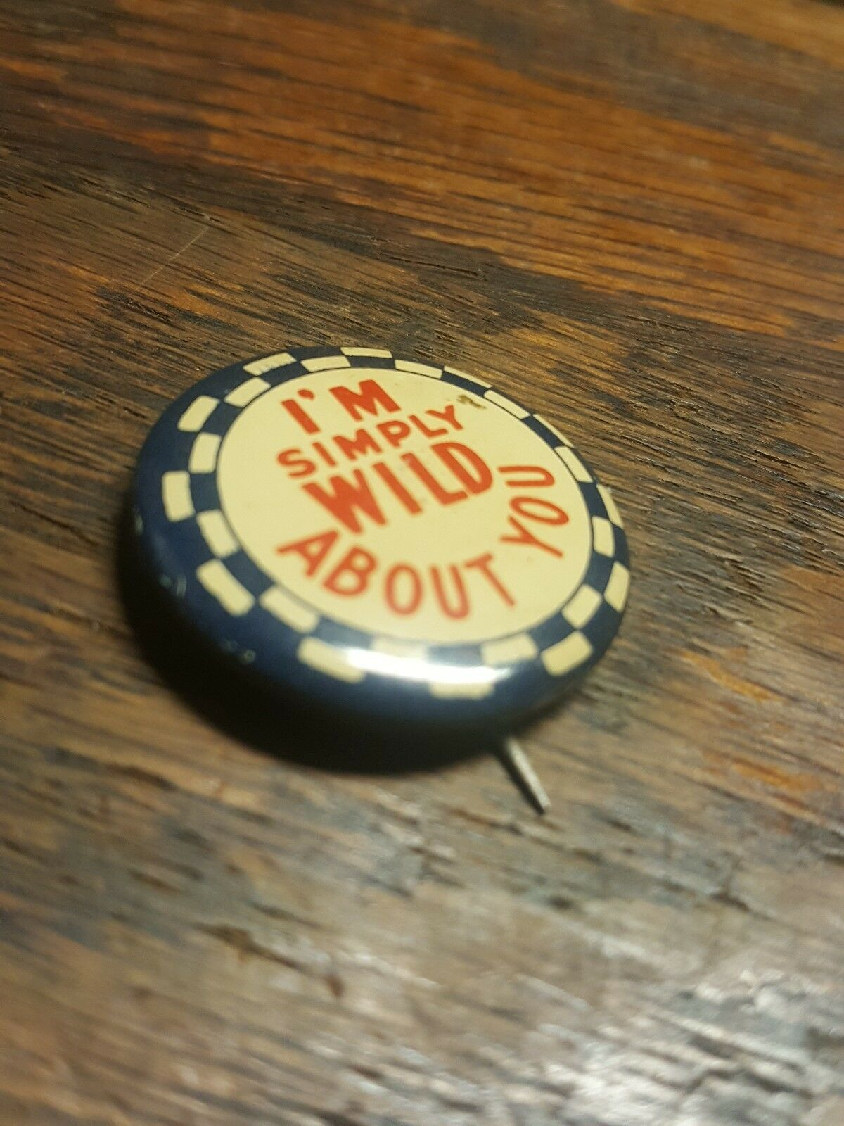 "VINTAGE METAL "" I'M SIMPLY WILD ABOUT YOU "" PIN *… - image 5"