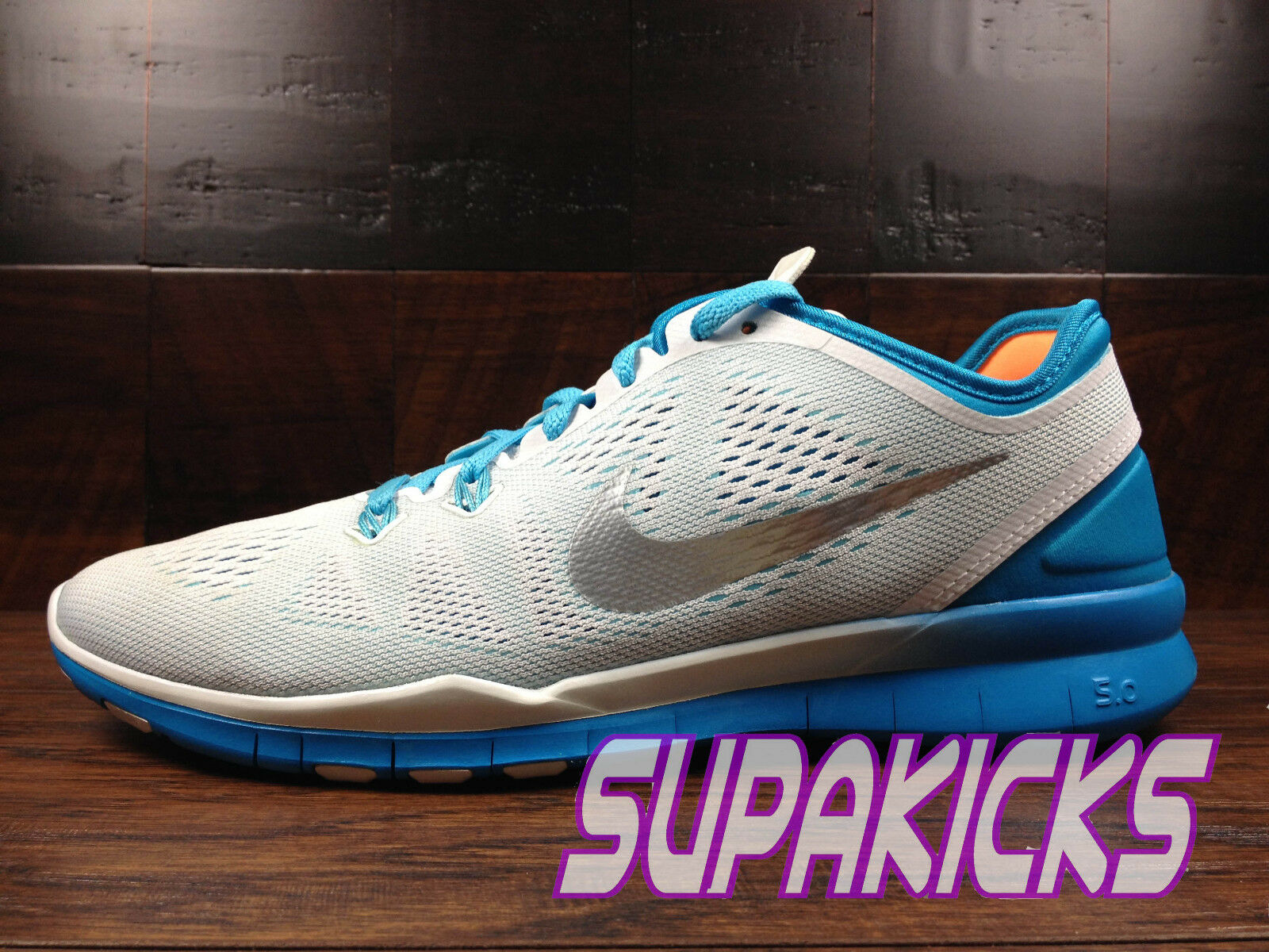 NIKE FREE 5.0 TR FIT 5 Womens (White   bluee Lagoon) Crossfit [704674-102]