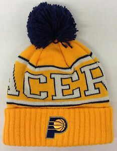 abb8be854f4 NBA Indiana Pacers Adidas Cuffed Pom Winter Knit Hat Cap Beanie ...