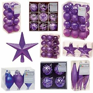 image is loading purple collection christmas decorations baubles stars cones hearts