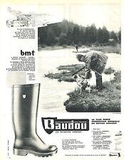 PUBLICITE ADVERTISING 014   1963   BAUDOU   bottes caoutchouc