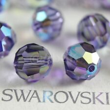 12 pcs Swarovski Element 5000 8mm Faceted Round Ball Bead Crystal Tanzanite AB