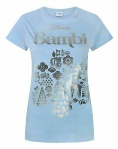 Disney-Bambi-Silver-Foil-Women-039-s-T-Shirt