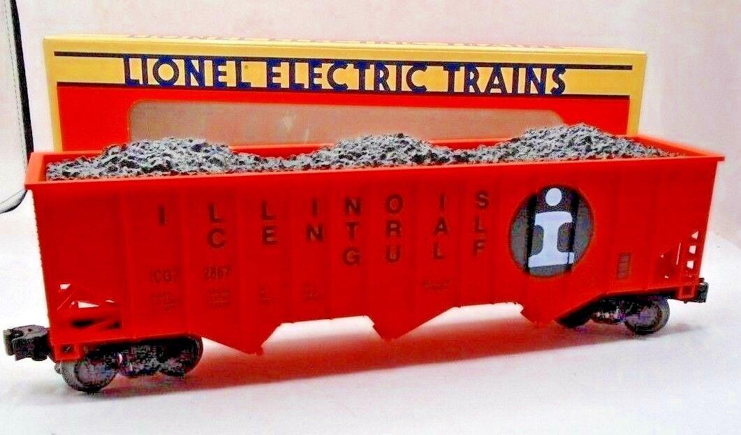 LIONEL 6-17121 I.C. O Scale Gauge THREE BAY HOPPER w  Coal 1990 USA Made NIB 35