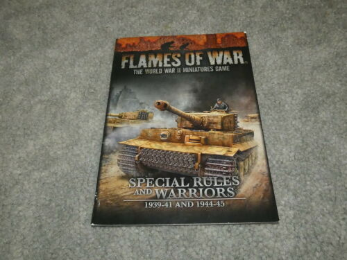 Flames of War 1939-41 and 1944-45 Rulebook Special Rules and Warriors