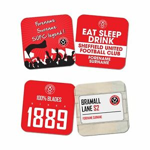 Prix ​​Bas Avec Sheffield United F.c - Personalised Coasters