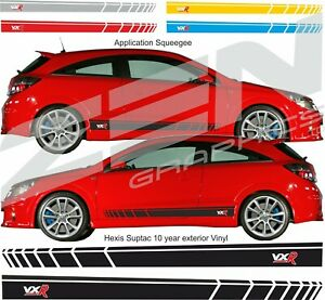 Vauxhall-Astra-H-MK5-VXR-2-litre-Turbo-Side-Stripes-Graphics-Decals-Stickers
