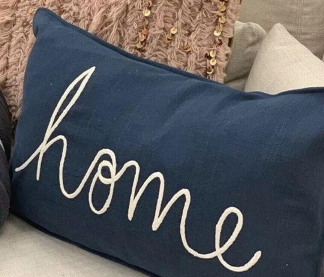"Pottery Barn Shibori 16/""x 26/"" Lumbar Pillow Cover Blue New no paper tag"