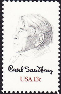 US-1978-13-Cents-Carl-Sandburg-Famous-American-Poet-amp-Author-Issue-1731-NH