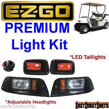 EZGO 1996-2013 TXT Adjustable Halogen Light Kit w/LED Tail Lights