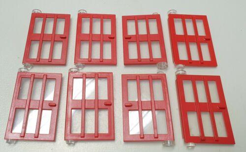 Lego Tür 8 Stück 73312 rot Haustür mit Sprossen 1 x 4 x 5