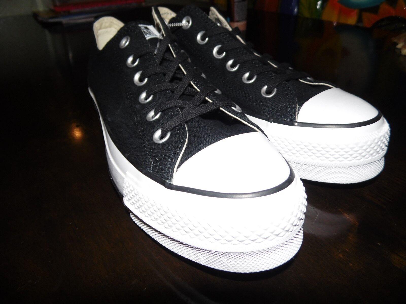 Converse Chuck Taylor All Star Lift OX Platform Black Black Black Women Size 9 shoes 560250C bb02c1
