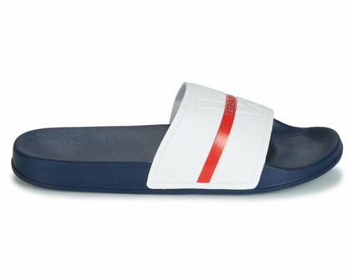 Versace Jeans GTBSQ3 Fondo VJ Sliders Navy White Summer Beach Pool Slide Sandals