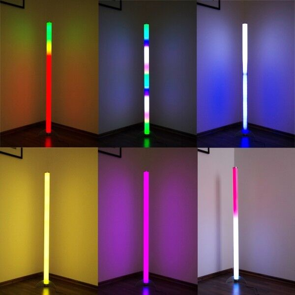 LED RGB floor lamp with remote and colour changer lighting standard lamp 116956