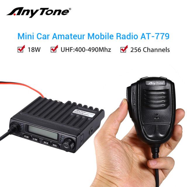 Anytone LCD Single Band 18W Portable Car Mobile Radio Ham Transceiver w/ Speaker