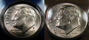 2016 P D Roosevelt Dime Set 1 P /& 1 D Brilliant Uncirculated Mint Set Coin/'s