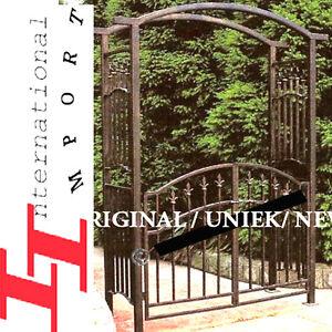 Portail portique barri re en fer forg pergola gloriette meuble de jardin plante ebay - Portail de jardin en fer ...