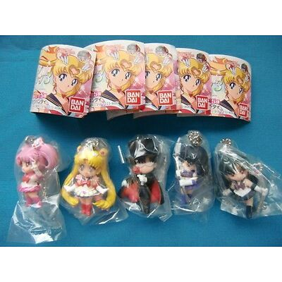 Sailor Moon Swing 3  Key chain  Figure Set of 5 new  unopend