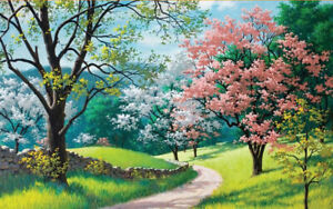 500-Pieces-Adult-Puzzle-Spring-Flowers-Trees-Grass-Jigsaw-Educational-Toys-Gift