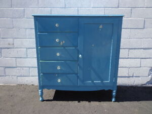 Merveilleux Details About Antique Armoire Closet Dresser Chest Drawers Shabby Chic  Traditional Nursery Kid