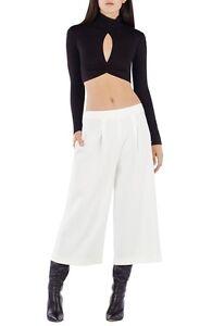 New-BCBG-MaxAzria-Women-Black-Sexy-Twist-Natalia-Cropped-Top-Shirt-XS-S-M-L