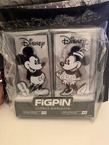 RARE Figpin Mini Mickey Minnie Mouse  Disney Pins Lot of 2