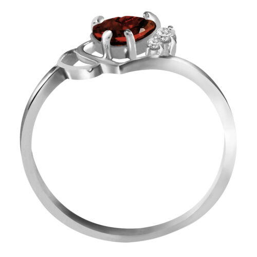 Details about  /0.97 tcw 14k Solid Gold Gemstone Ring Red Garnet w// Natural Diamond Size 5-11