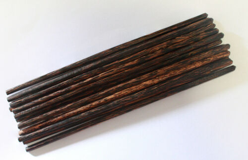 """Classic Chopstick Japanese Handmade Coconut And Palm Wood 2 4 6 8 10 Pairs 9.50/"""""""